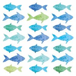 Салфетки aquarell fishes 20 шт. 25х25 см