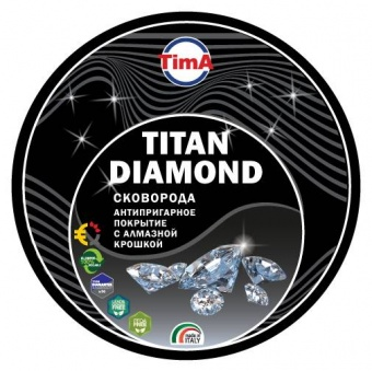 Сковорода TVS TITAN DIAMOND 24см, сьемная ручка
